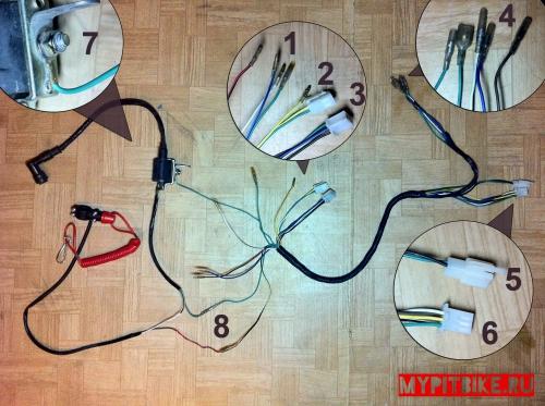 провода. схема соединения проводки.