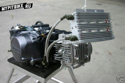 Масляный радиатор питбайка