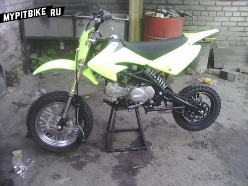Примеряем переднее колесо на Kayo 140cc