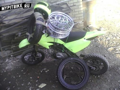 Установка 14 колес на питбайк Kayo 140cc